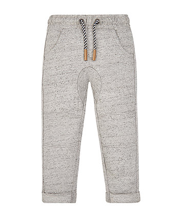 Grey Turned Up Joggers