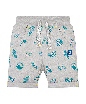 SurfS Up Grey Marl Shorts