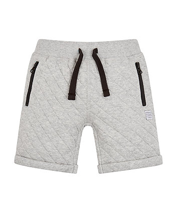 Mothercare Grey Quilted Shorts