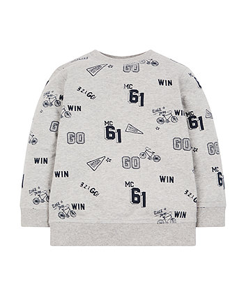 Mothercare Grey Racing Sweat Top