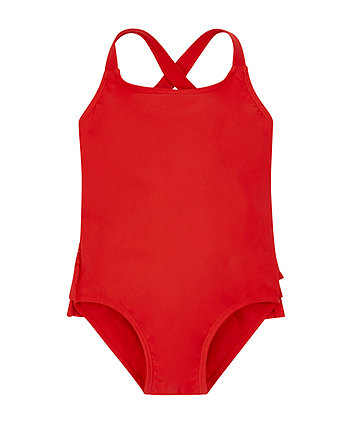 red frills swimsuit