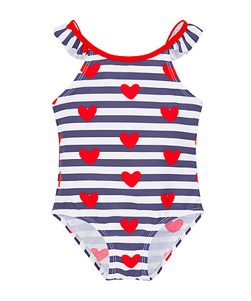 heart and stripes swimsuit