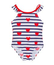 Mothercare Heart And Stripes Swimsuit