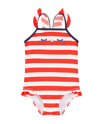 Mothercare Cat Stripe Swimsuit