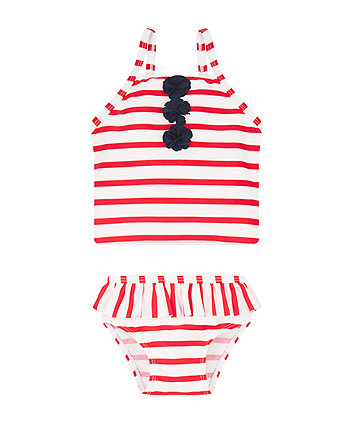 Mothercare Stripe And Flower Tankini Set