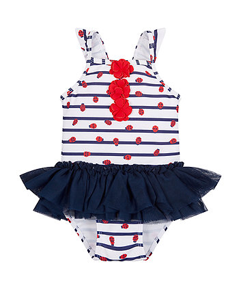 Mothercare Ladybird Tutu Swimsuit