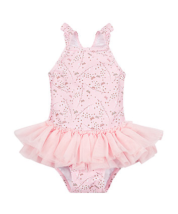 Mothercare Pink Butterfly Tutu Swimsuit