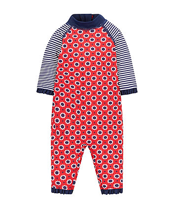 Mothercare Nautical Stripe And Floral Sunsafe