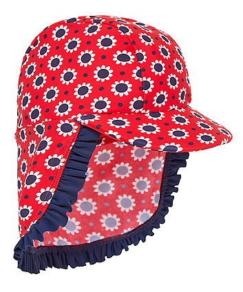 Mothercare Red Floral Keppi Hat