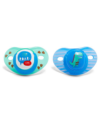 Mothercare Orthodontic Soothers - 6 Months+ 2 Pack