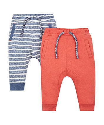 Striped And Red Joggers - 2 Pack