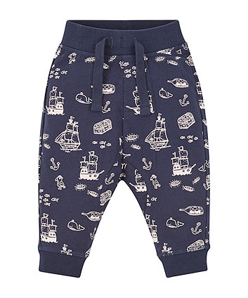 Navy Pirate Joggers