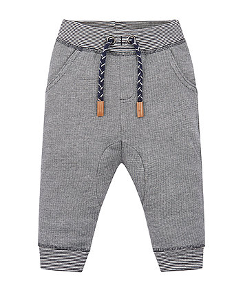 Navy Striped Joggers