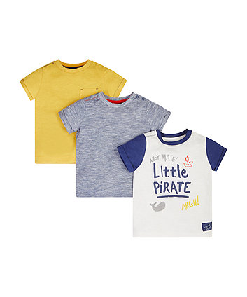 Little Pirate T-Shirts - 3 Pack