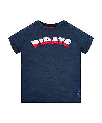 Dark Blue Marl Pirate T-Shirt