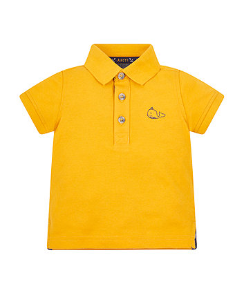 Yellow Pique Polo Shirt