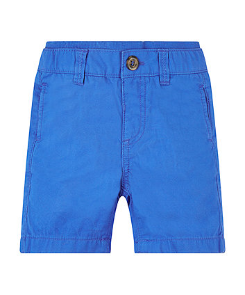 Blue Twill Shorts