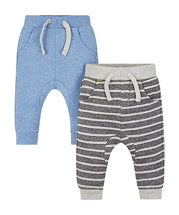Striped And Blue Joggers - 2 Pack