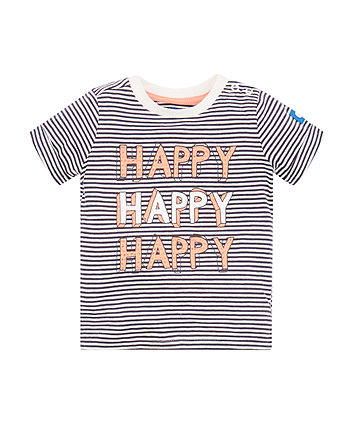 Mothercare Stripe Happy T-Shirt