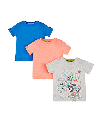 Mothercare Dinosaur T-Shirts - 3 Pack
