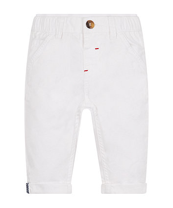 White Twill Chino Trousers