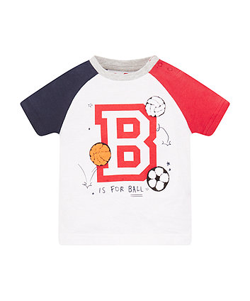 Mothercare Ball Raglan T-Shirt