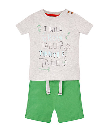 Mothercare Taller Than Trees T-Shirt And Shorts Set