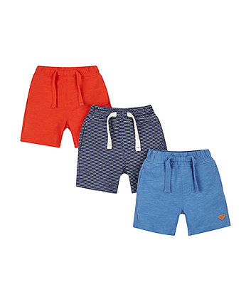 Mothercare Red And Blue Shorts - 3 Pack
