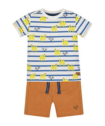 Mothercare Camel T-Shirt And Shorts Set