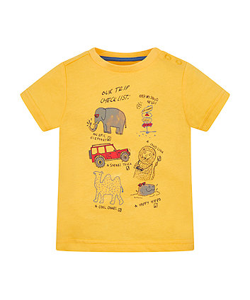 Mothercare Travel Checklist T-Shirt