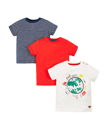 Mothercare New Day T-Shirts - 3 Pack