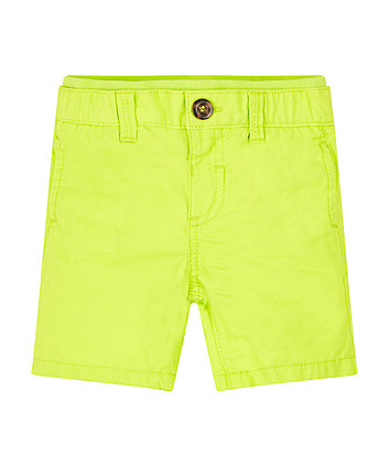Lime Peached Twill Shorts