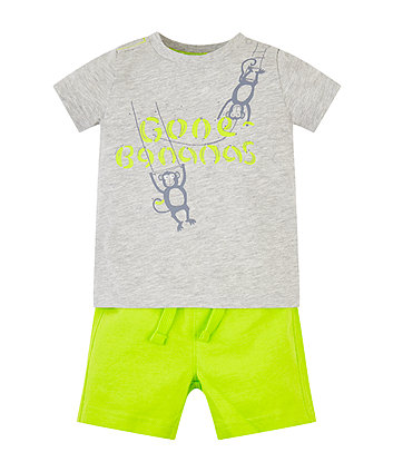 Gone Bananas T-Shirt And Shorts Set