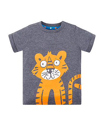 Tiger Wrap-Around Print T-Shirt