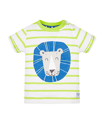 Lime Stripe Lion T-Shirt