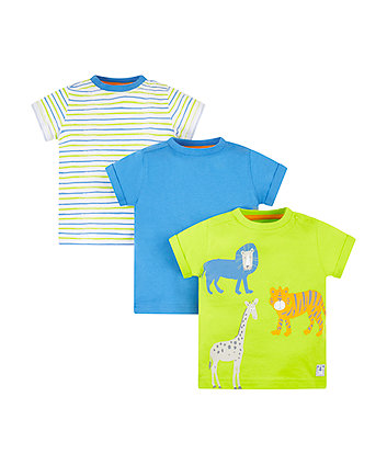 Animal Stripe T-Shirts - 3 Pack