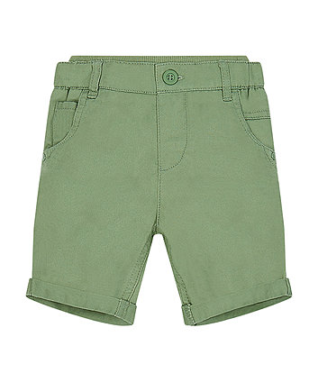 Mothercare Green Twill Shorts
