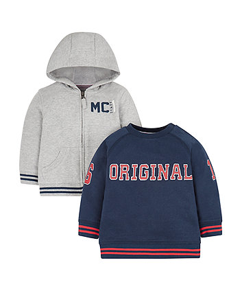 Mothercare Original Sweat Top And Hoodie Set