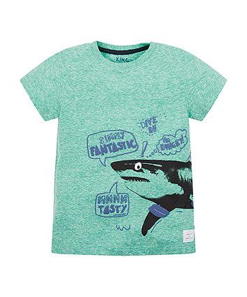 Blue Marl Shark T-Shirt