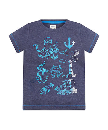 King Of The Sea Navy Tonal T-Shirt