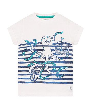 Octopus Striped T-Shirt