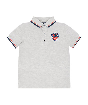 Grey Pique Polo Shirt
