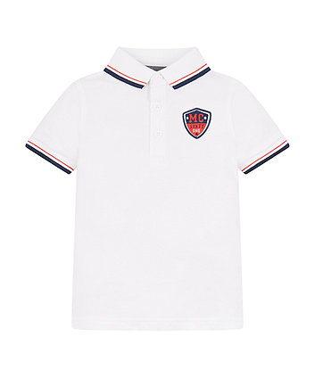 Mothercare White Pique Polo Shirt