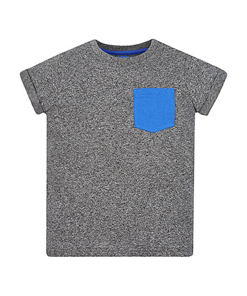 Grey Marl Pocket T-Shirt