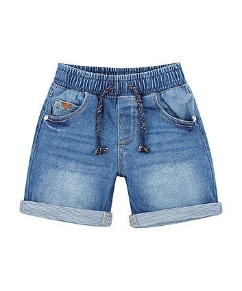 Mothercare Light Wash Denim Shorts