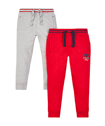 Mothercare Red And Grey Joggers - 2 Pack