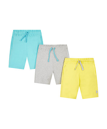 Lime, Turquoise And Grey Shorts