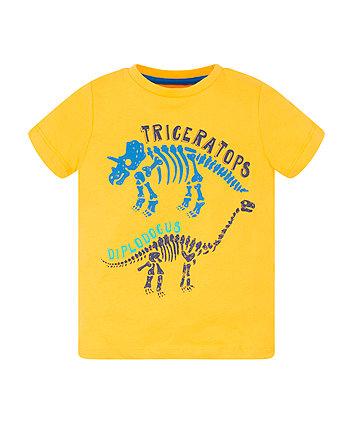 Mothercare Yellow Two Dinosaur T-Shirt