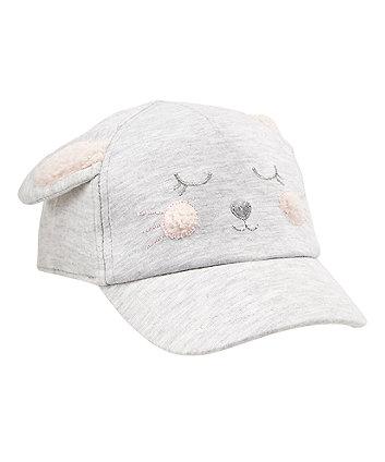 Mothercare Grey Bunny Cap