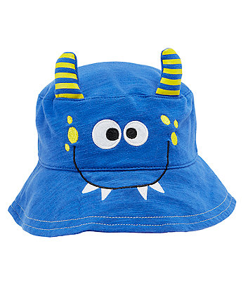 Mothercare Blue Monster Fisherman Hat
